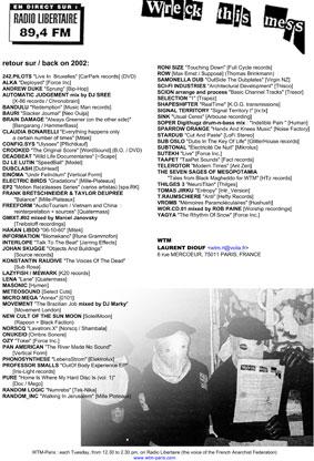 playlist 2002 - wtm paris